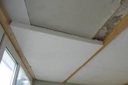 Утепление потолка пенопластом внутри помещения