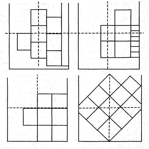 Схема оклеивания потолка плиткой