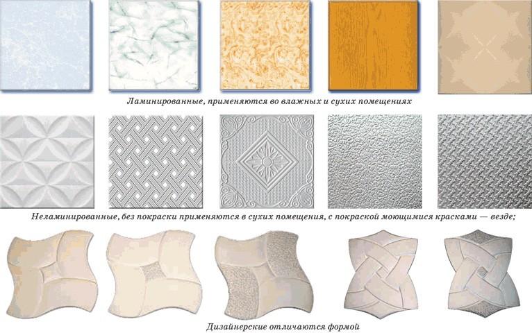Как клеить потолочную плитку правильно и красиво?