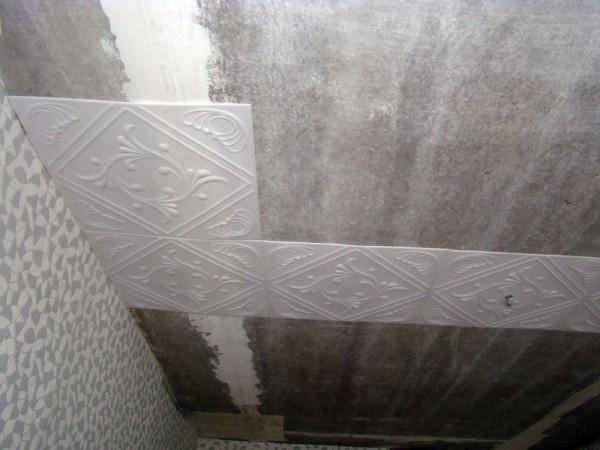 Плитка потолочная на побелку.