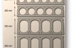 Виды многопустотных плит перекрытия в сечении