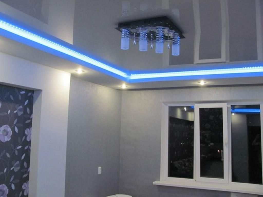 Подсветка потолка по периметру комнаты