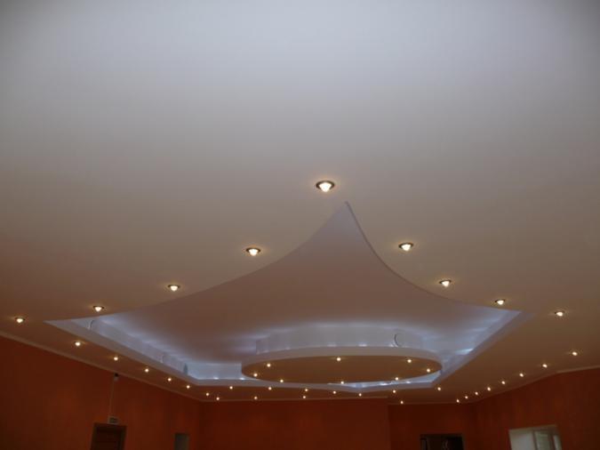 Эксклюзивное устройство потолка.