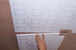 Поклейка пенопластовых панелей