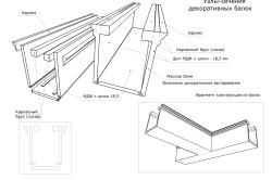 Схема устройства декоративных потолочных балок из МДФ