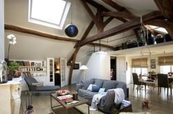 Нестандартное применение потолочных балок