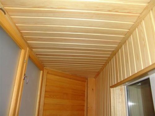 вагонка на потолок фото