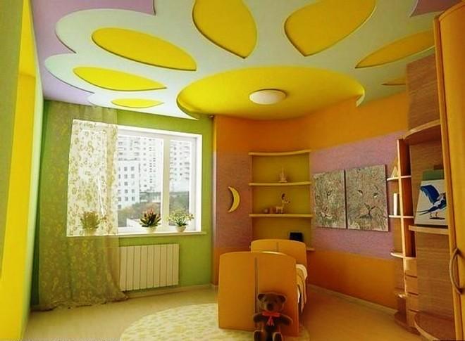 Потолок в детской комнате из гипсокартона
