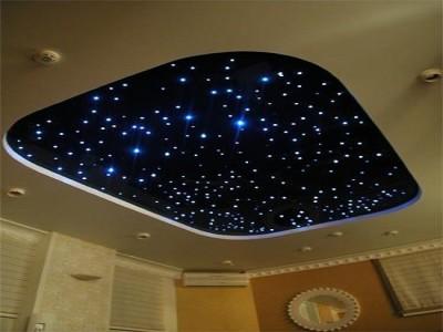 Звезды на натяжном потолке.