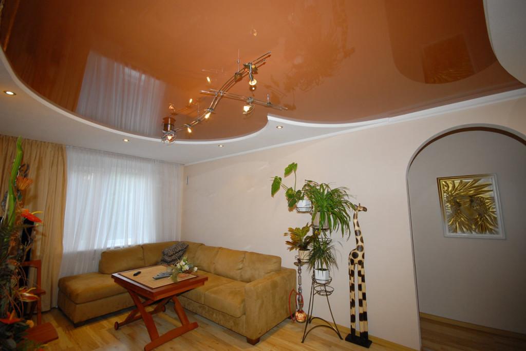 Выбор дизайна для потолка в гостиной