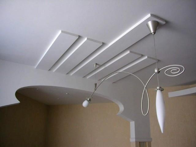 Потолок из гипсокартона - бюджетный и оригинальный вариант