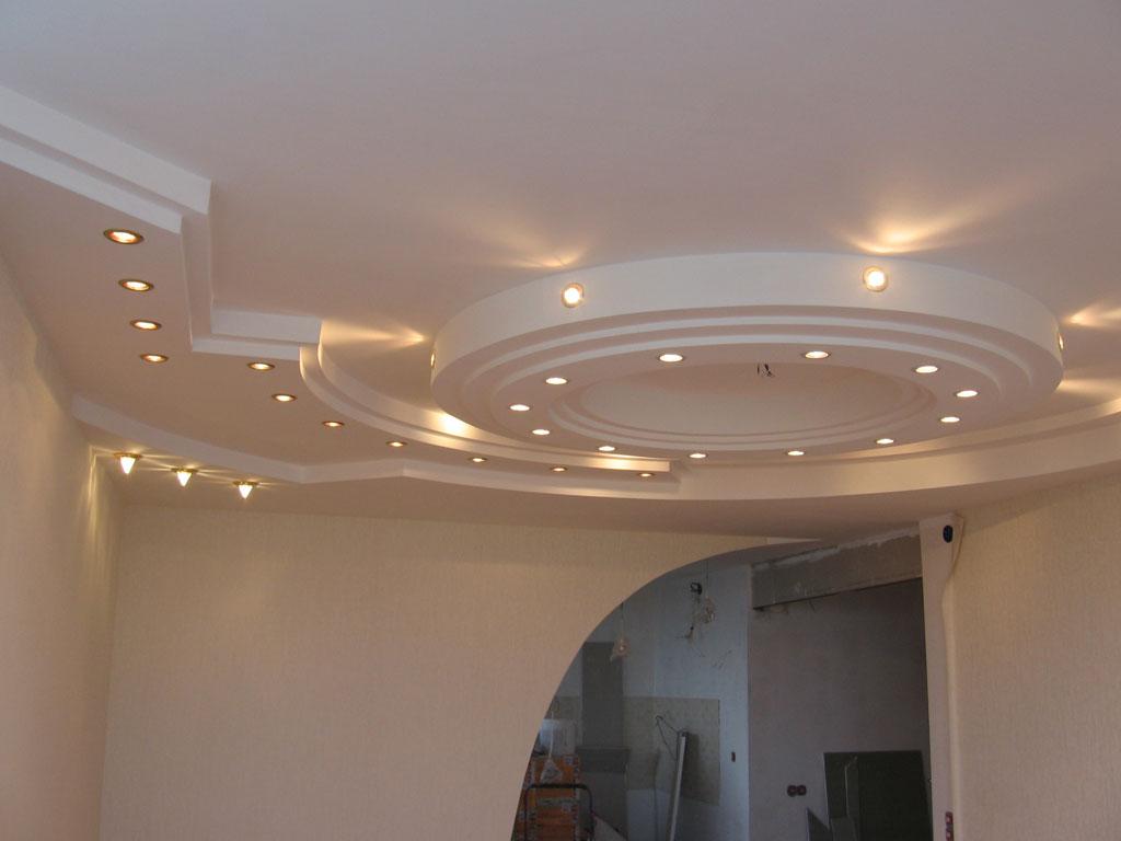 Натяжные потолки с гипсокартоном – применение, дизайн, преимущества