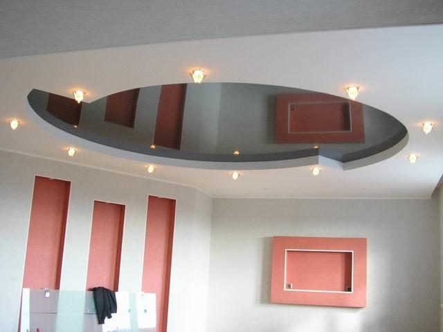 Вариант дизайна подвесного потолка из гипсокартона