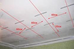 Разметка потолка под плитку