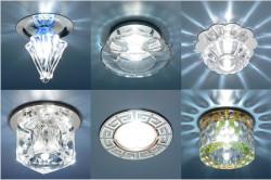 Разнообразие светильников для подвесных потолков огромно.