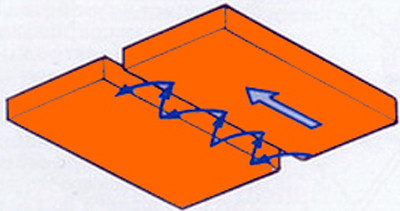 Способ сварки потолочного шва полумесяцем