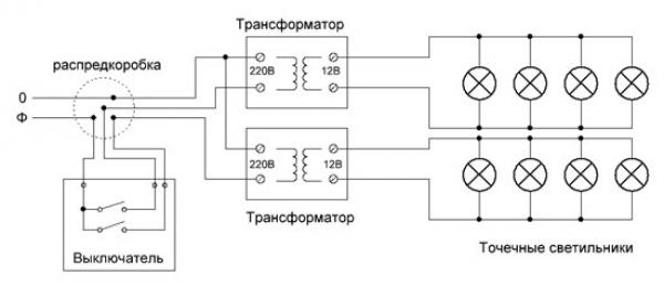Схема подключения устройства