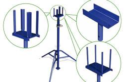 Телескопическая стойка-домкрат