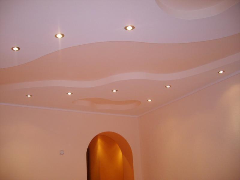 Точечные светильники в потолке