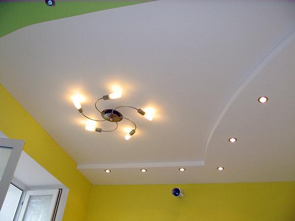 Преимущества точечной подсветки потолка