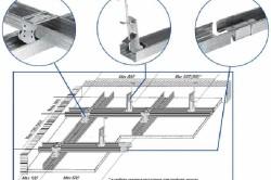 Схема разборки подвесного потолка