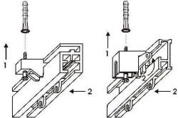 Схема установка потолочного карниза из алюминиевого профиля