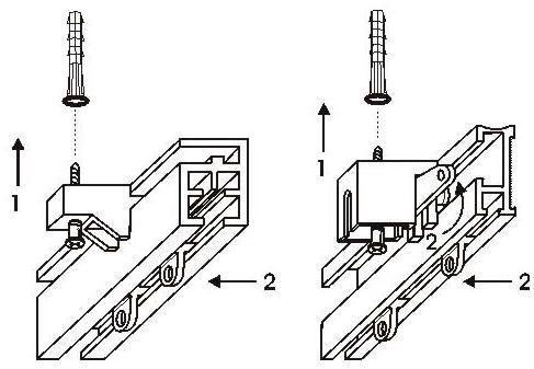 Схема установка потолочного