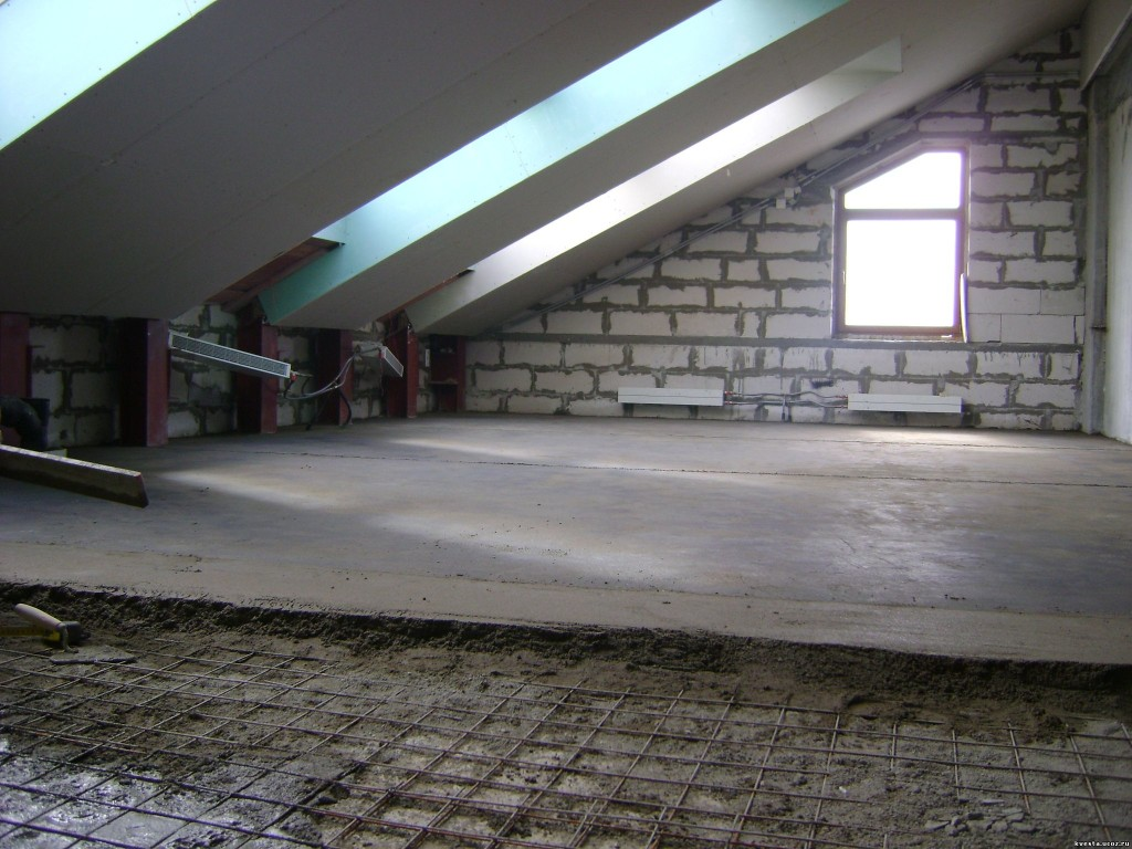 Заливка бетонных перекрытий
