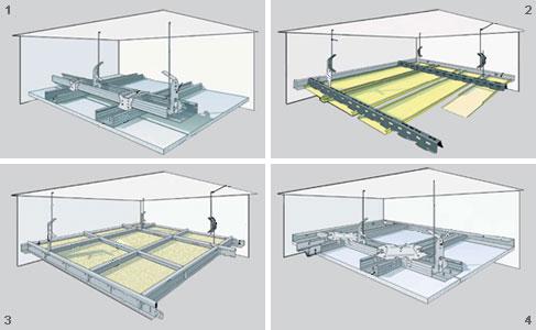 Схема монтажа подвесного