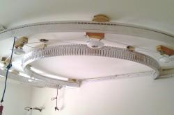 Конструкция многоуровневого натяжного потолка