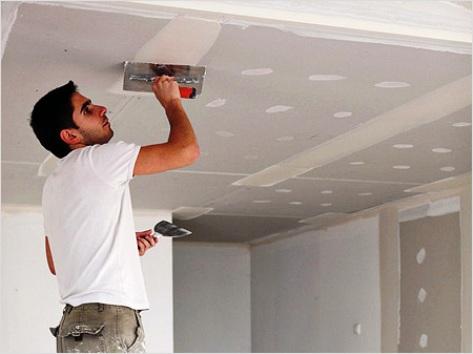 Как исправить потолок после покраски, если появились пятна, дефекты и полосы