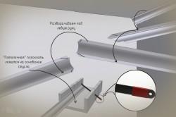 Схема резки плинтуса при устанвоке