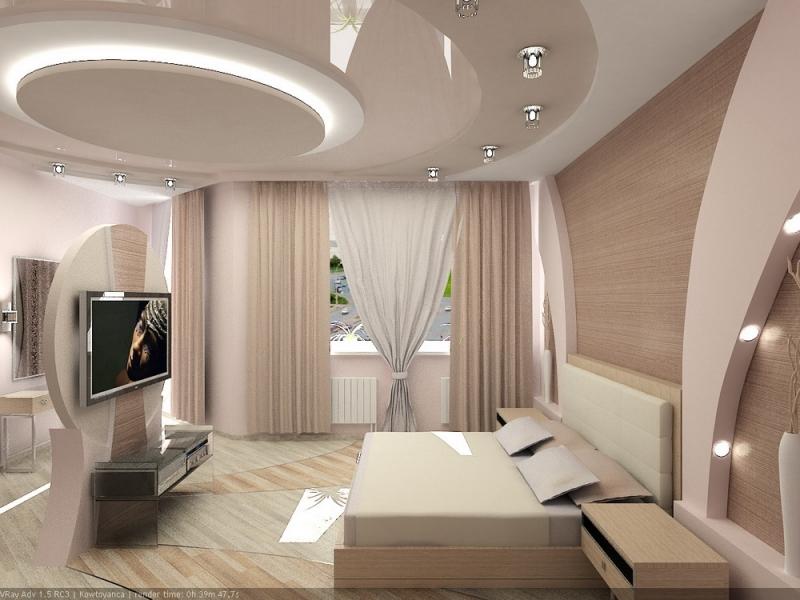 Подвесной потолок с комбинированным освещением