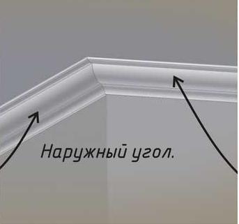 Наружный и внешний углы по сложности установки не отличаются. Главное научиться правильно подрезать плинтуса.