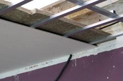 Монтаж гипсокартонного потолка.