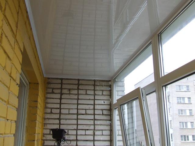Как на лоджии сделать потолок 279