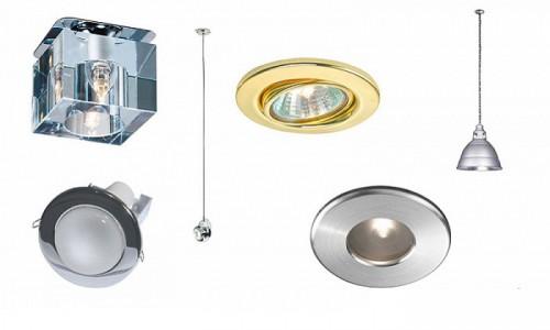 Виды световых приборов для точечного освещения