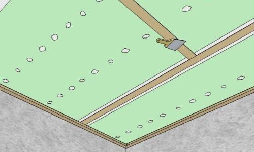 Схема оклейки паутинкой потолка