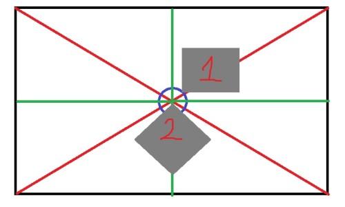Разметка для поклейки плитки по диагонали