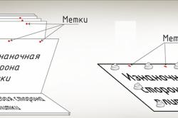 Схема нанесения клея на пенопласт