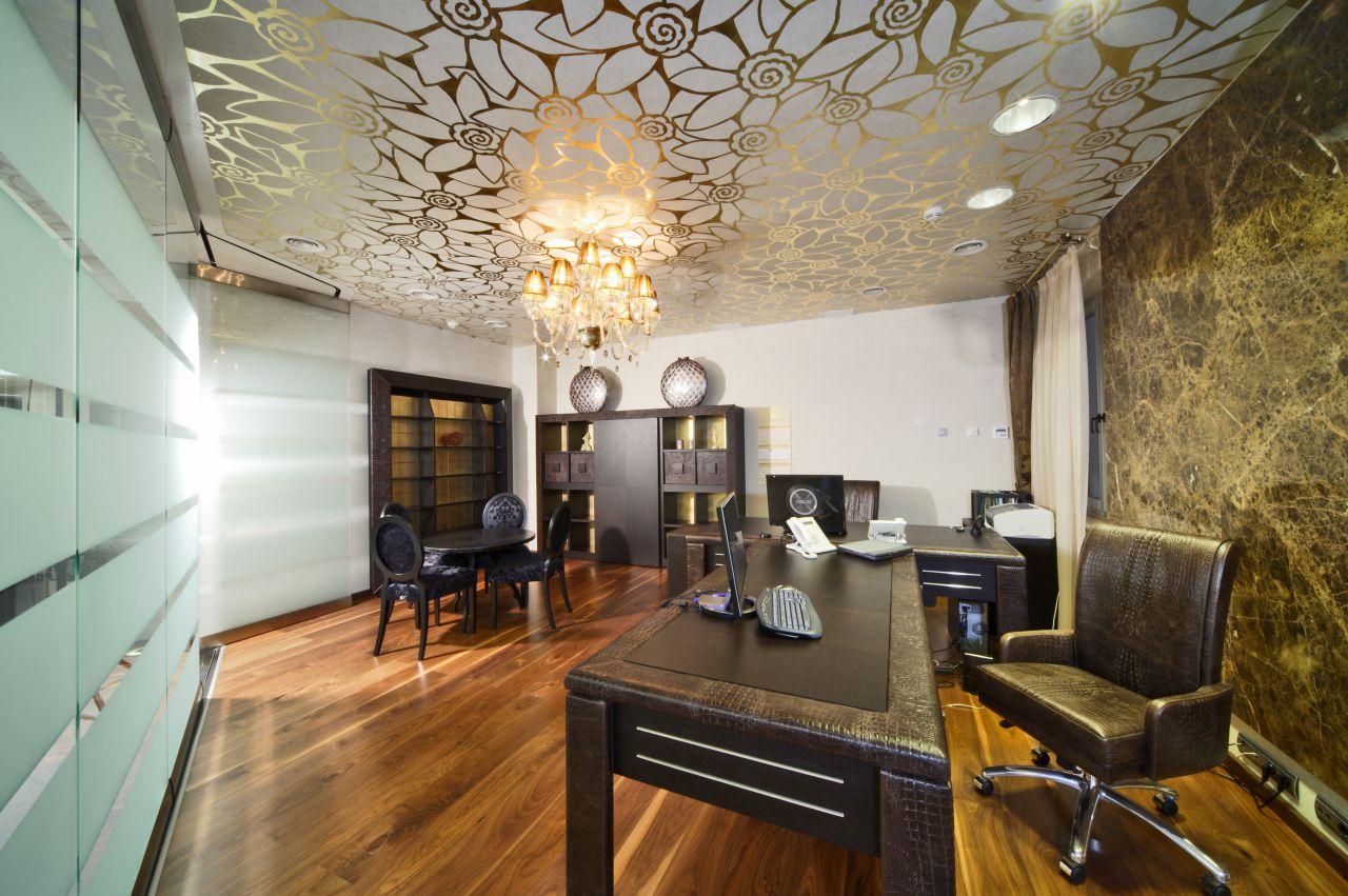 Потолки в кабинете фото дизайн