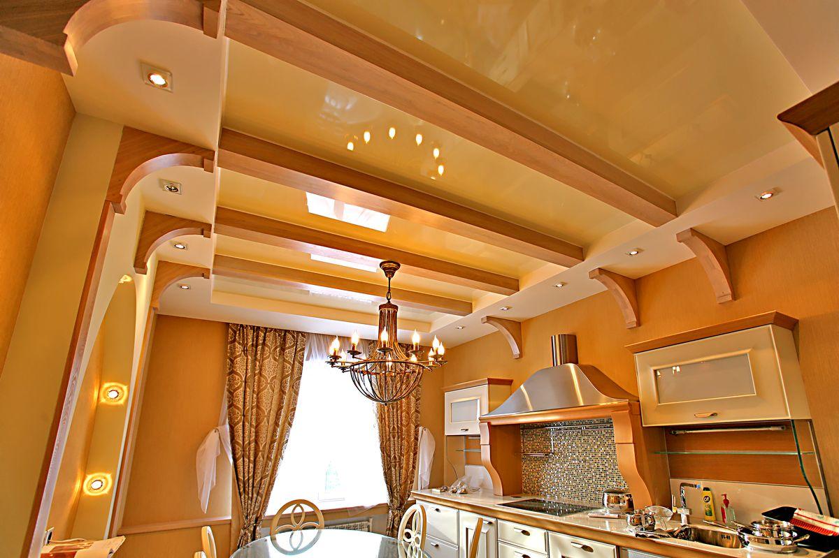 Потолок в доме своими руками фото