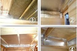 Этапы утепления потолка парилки бани